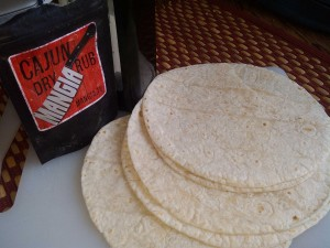 Baked Cajun Tortilla Chips